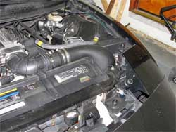K&N cold air intake incorporates a uniquely shaped molded air intake tube