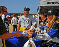 CORR Junior 2 Kart Class Racer Taylor Nicole Snyder at an autograph session at the race track