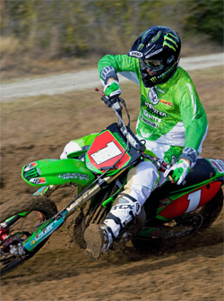Team Babbitt's Kawasaki is ready for the world's best AMA Arenacross competitors, photo by Will Pattison