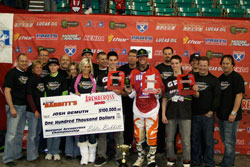 The 2010 Arenacross Championship was Josh Demuth's third, but his first ever as a part of a team podium sweep