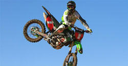 Bowers goes to great heights to display his 2011 number one plate.
