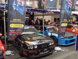 Dennis van der Prijt and five other teams entertained over 600,000 fans at the Rotterdam City Racing Drift Show.
