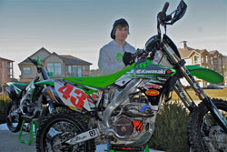 13-year-old Trevor Pearson is the reigning Team Green - 2010 Rider of the Year.