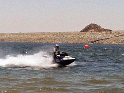 Renee Hill races on a K&N sponsored Sea-Doo RXP-X watercraft