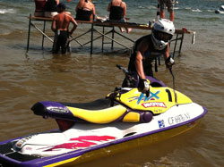 Renee Hill's son Tyler, also races personal watercraft