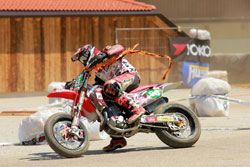 Wedenig's second overall in round four of the Austrian State Championship was his best finish to date in the International Supermoto Pro Series.