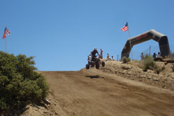 The rough conditions at Cahuilla Creek is no match for Team Motoworks.