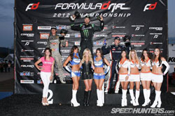 Team Retaks Racing's Ryan Tuerck currently holds fifth overall in the Formula Drift points championship after his second place finish in round 5.
