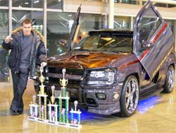 D'mitri Moisseev and his 2002 Chevrolet Trailblazer LTZ