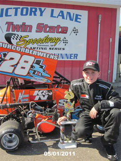 Teddy Hodgdon won the 2010 Hoosier Tire Challenge Series championship at Twin State Speedway in New Hampshire.