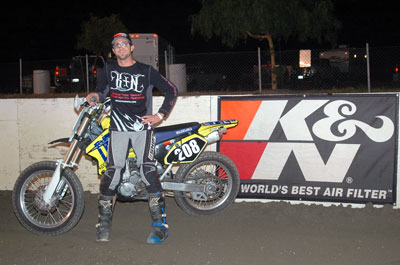 Printed Materials Product Manager, Jeremy Templeman takes 3rd in Southern California Flat Track Association Series at Perris Raceway