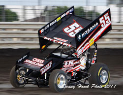 Terry McCarl's expereince recently lent to his ability to get into a racecar that he is not accustomed to driving and earn the checkered flag.