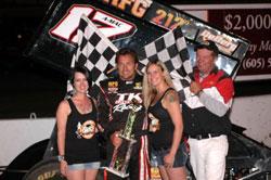Terry McCArl recently earned his 87th career win at Huset's Speedeway.