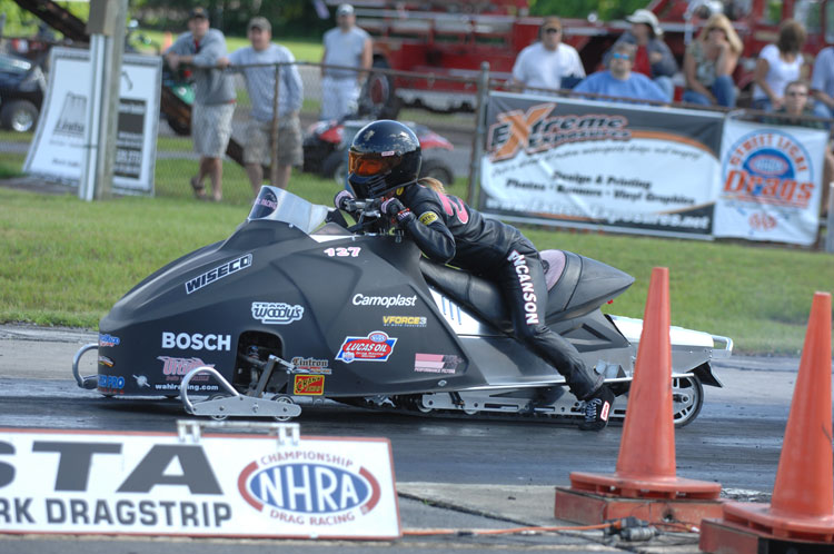 That Girl Racing Moves Their NHRA Pro-Stock Snowmobile and Asphalt