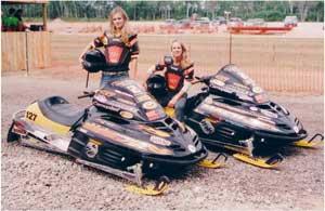 Snowmobile Racers Kiersten & Tiina Duncanson of That Girl Racing