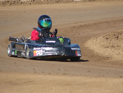 Collin Thomas' 6.5 horsepower kart with honda clone motor