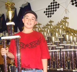 Outlaw Racing Kart Chrome Class Champion Collin Thomas
