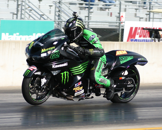 Ricky Gadson sets fastest time and wins in his Kawasaki ZX14 at Pingel