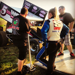 Although mechanical issues have plagued Tiffany Wyzard's progress as a driver during the beginning of the 2013 season, she has a bright outlook about her future as a sprint car driver.
