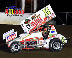 Tim Allison and his crew recently earned a podium spot at the Waynesfield Raceway, at Waynesfield, Ohio
