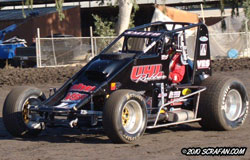 Smith competes in the USAC West Coast 360 Sprint Car Series, driving the Steve La Gras' UHL Rubber number 14 Maxim car.