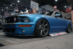 This 2005 Ford Mustang got a lot of attention in the TMI SEMA booth