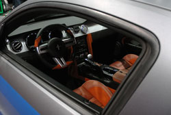 The interior of this TMI 2005 Ford Mustang was a sight to see at SEMA