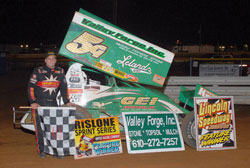 Curt Michaels got his first win of the season back in June at Lincoln Speedway.