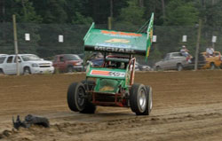 Driver Curt Michael did precisely what was needed to win the championship Cayuga County Fair Speedway in Weedsport, New York.