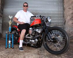 Todd White on his Harley-Davidson XL1200C Bobber