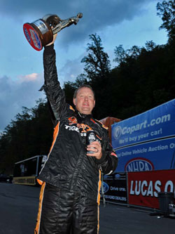 Tommy Phillips got his 23rd NHRA National Event win during the NHRA Thunder Valley Nationals in Bristol, Tennessee.