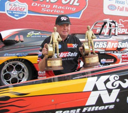 This was the second time Phillips collected double W's, the first time was at the Jegs Cajun Sportsnationals