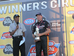 Earlier this season Phillips won the Super Gas Wally in front of his hometown crowd at the NHRA National in Dallas.