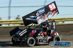 Tony Gualda recently kicked off his second season in the Restricted class of Micro Sprint racing at the Lemoore Raceway in Lemoore, California. (Photo by bryanlugo.com)