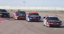 Fierce competition is the name of the game during a NASCAR K&N Pro Series Race