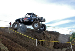 Near vertical climbs were part of the course for Torchmate Racing Driver Roger Lovell