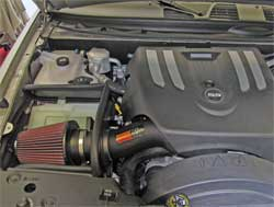 Chevrolet Trailblazer with K&N air intake 57-3061 installed