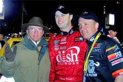 Jack Roush, Travis Kvapil and Charles Maier