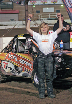 12-year-old Trenton Briley has the number one position in the Mickey Thompson KalGard Lubricants SXS Stadium Series, photo by BadSeed