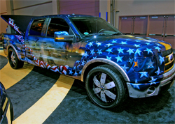 2009 Ford F-150 Freedom Truck is designed to honor the men and women who serve in the United States Military