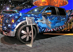 2009 Ford F-150 4x2 Freedom Truck on display at the SEMA Show in Las Vegas, Nevada