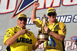 Troy Coughlin dedicated the Vegas Wally to his younger brother, Jeg Jr