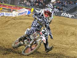 Troy Adams, supercross rider for Hart & Huntington