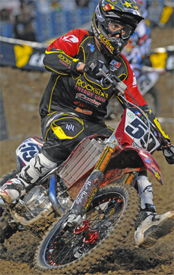 Carey Hart's Team rider Troy Adams is looking forward to the AMA Supercross Series Race in San Francisco, California