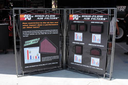 K&N Air Filter Display