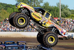 Greg's son Zach earned his first event win driving the team's Rislone Defender monster truck.