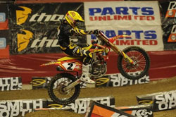 With one race remaining TUF Racing is in second place overall in the AMA Arenacross Series. Photo by smugmug.com.