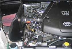 63-9033 K&N air intake system installed in 2007 Toyota Tundra