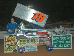 Mark Bitner flat-out dominated the URC race at Lincoln Speedway, grabbing the lead by lap five and never looking back.