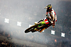 Tyler Bowers recently won his second consecutive AMA Arenacross Championship.